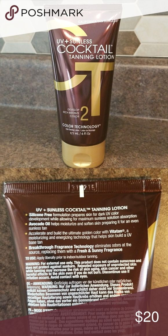 California Tan UV & Sunless Cocktail Tan Lotion Tanning indoor, spray tans or tanning outdoors..... This is an amazing product!!  Used just a few times. California tan Other