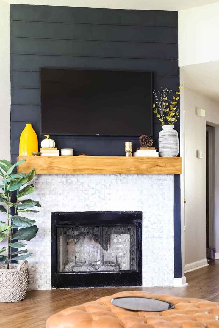 diy gas fireplace mantel