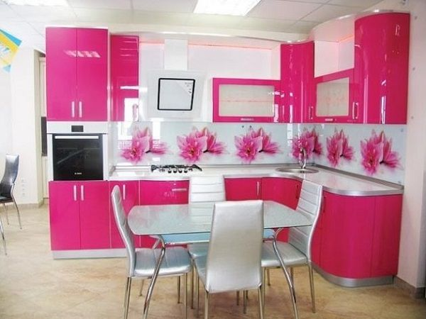 Want to design a pink kitchen? Finding best ideas to decorate pink kitchen? Then get pink kitchen interior designing ideas, photos, pictures and images.