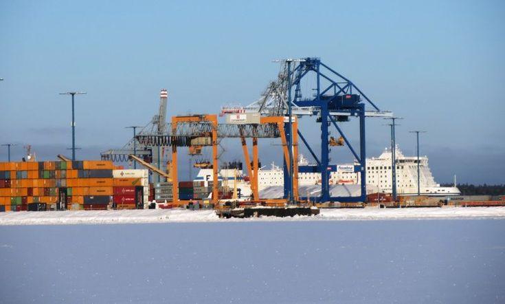 Port of Helsinki, Finland.