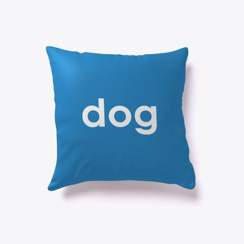 Dog And Cat Reversible Pillow Denim Blue. Dog lover? Cat lover? Evenly split household? Now you can show your love for both with our reversible dog-cat pillow. Just turn it over to impress guests who love one over the other. Buy one today!