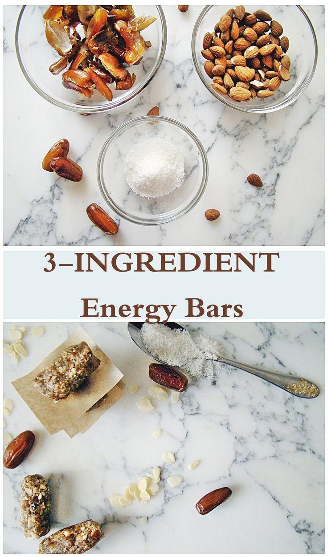 3 Ingredient Energy Bars | booksandlavender.com