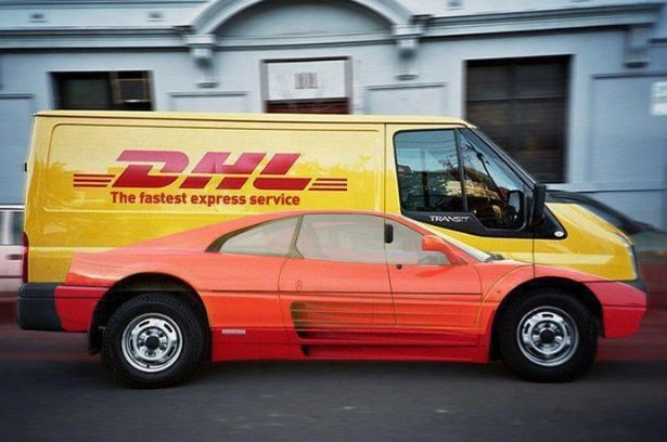 "DHL ""The fastest express service"" Ad"