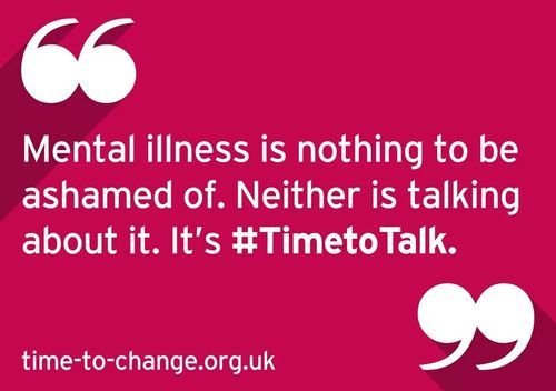 Time to change! world mental health awareness day.