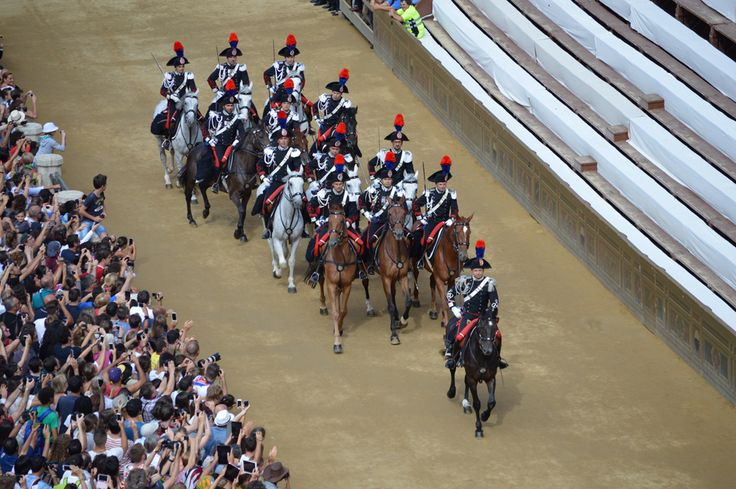 The police of Siena, before the Palio race start.