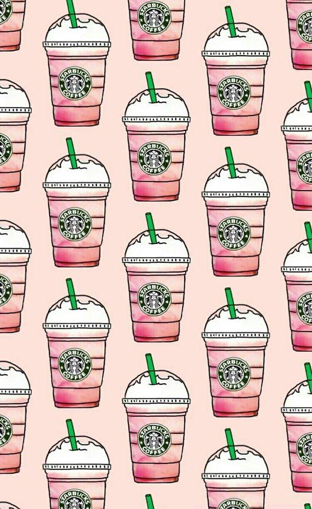 Cute Nutella Wallpapers Patterns Pink Starbucks Wallpapers Favim Com 4516507 Jpeg