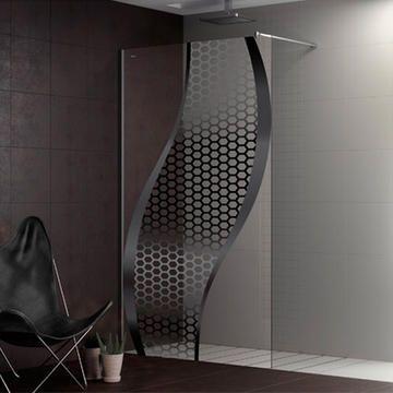 Personaliza tu mampara Duscholux y conviértela en una obra de arte con la nueva serie de mamparas de ducha y bañera Duscho Art de Duscholux.