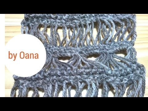 Crochet broomstitck lace without broomstick - YouTube
