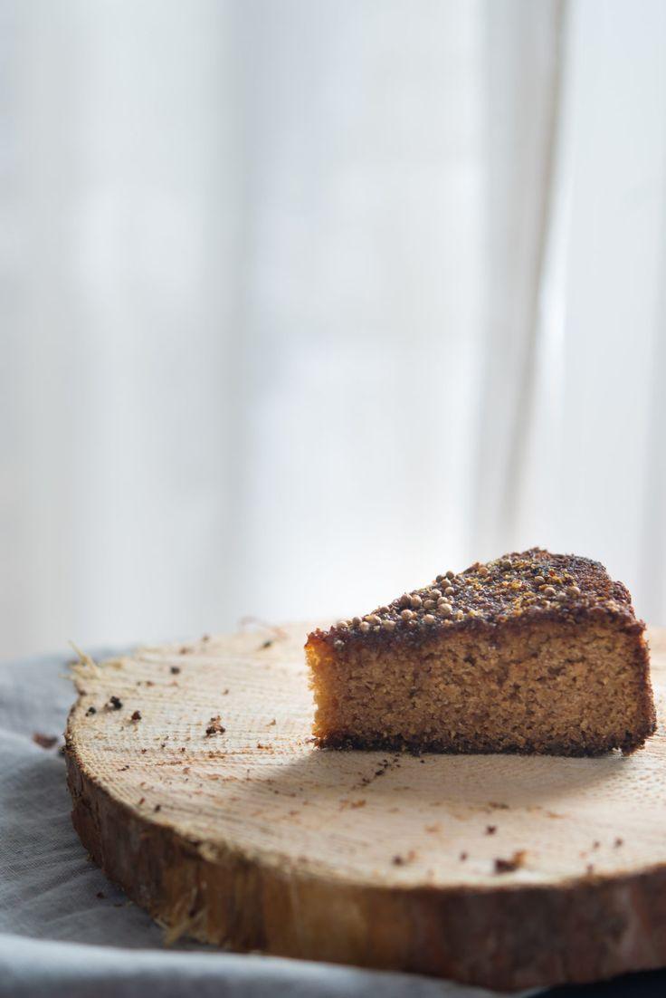 Honey coriander cake.