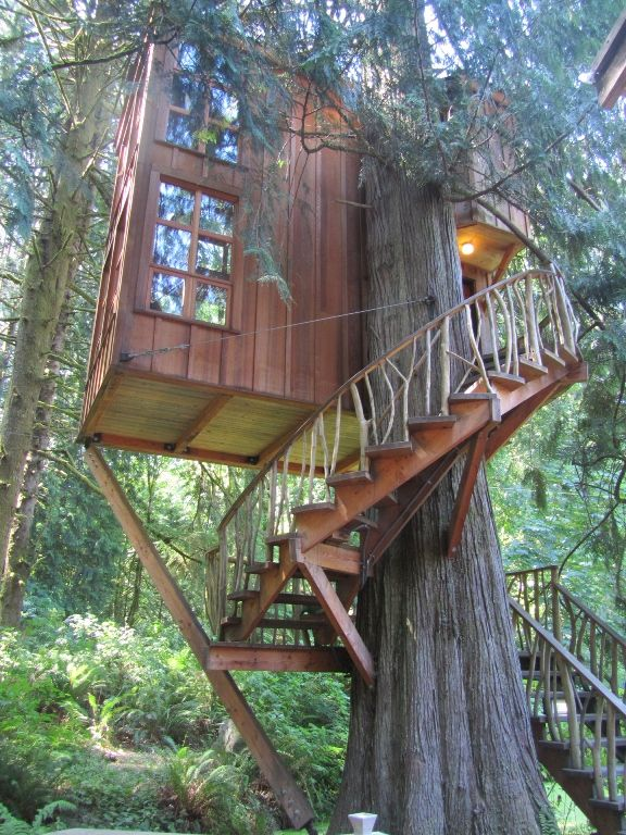two storey treehouse