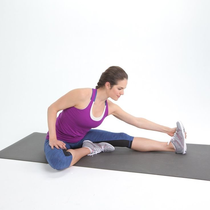 This basic stretch is perfect for targeting one leg at a time, and is great for those with really tight ham...