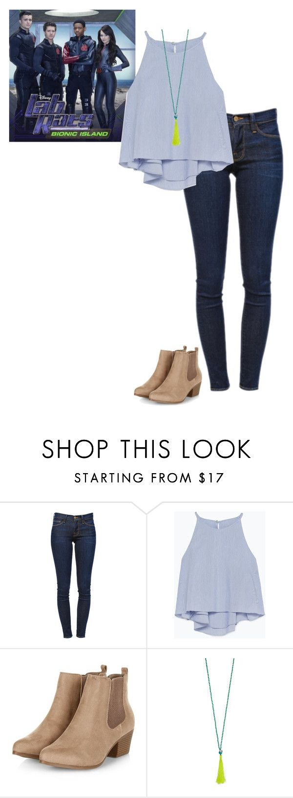 """Lab Rats Bree Inspired Outfit"" by verostyle16 ❤ liked on Polyvore featuring Frame Denim, Zara and Helix & Felix"