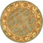 Heritage Blue/Beige 3 ft. 6 in. x 3 ft. 6 in. Round Area Rug