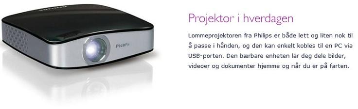 Komplett.no - Philips PicoPix 1020 mini projektor