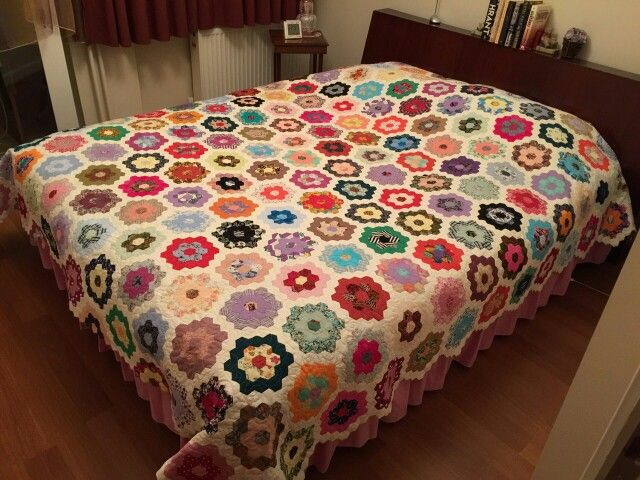 Hexagon quilt all hand made