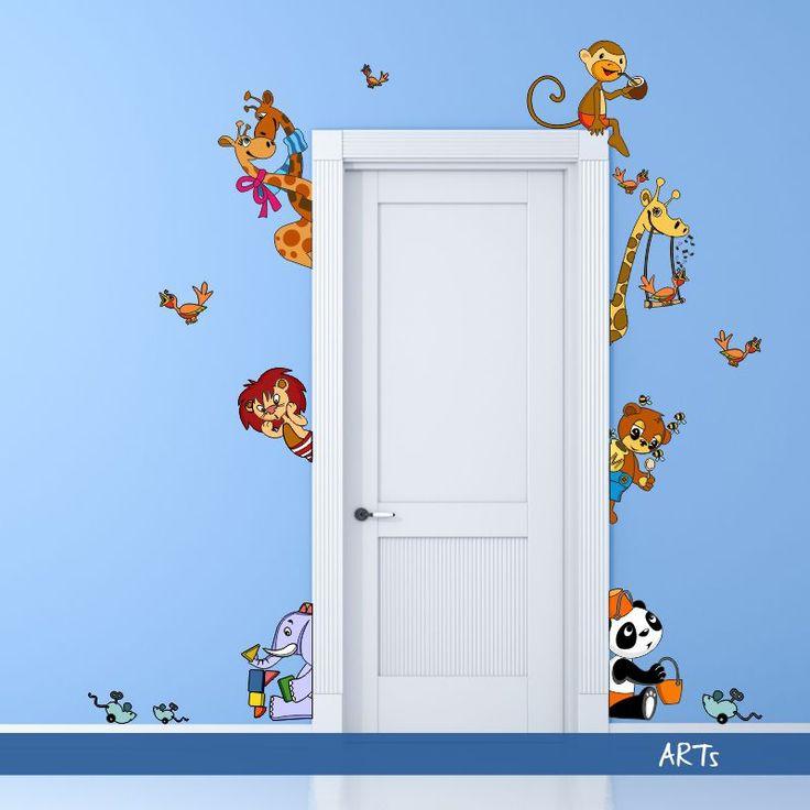 (3595f) Nálepka na stenu - #Zvieratká III #artsablony #DekoraciaNaStenu
