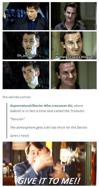 Gabriel and Captain Jack...the fandoms would not survive. (Not that that's unusual, but you know what I mean)<<<I ship it so hard!!