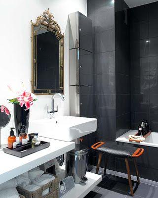 Caramel: Black and White Interiors