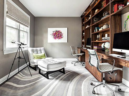 Living spaces modern home office design