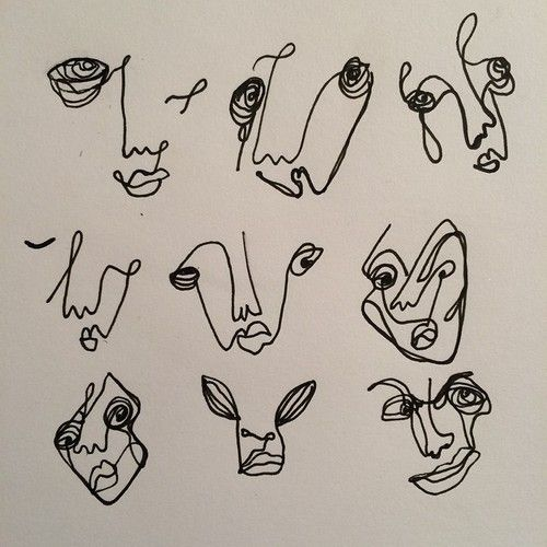 faces drawn