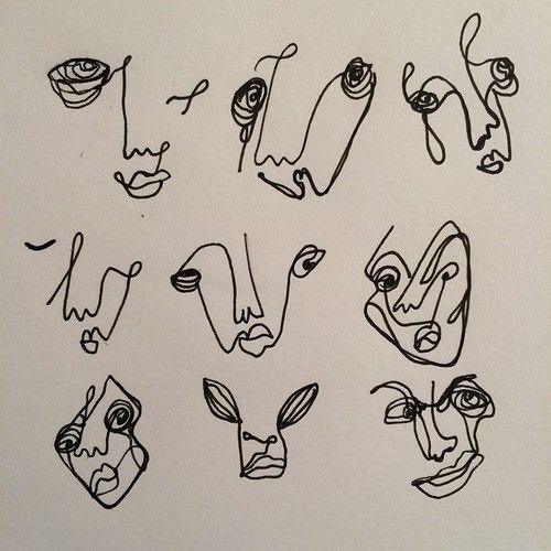 faces drawn