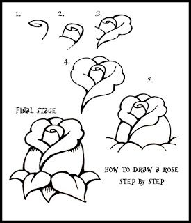 DARYL HOBSON ARTWORK: How To Draw A Rose: Step By Step Guide