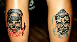 rockabilly girl skull tattoo - Google Search