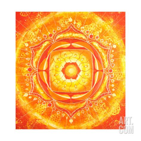 Art.fr - Reproduction d'art 'Abstract Orange Painted Picture with Circle Pattern, Mandala of Svadhisthana Chakra' par shooarts