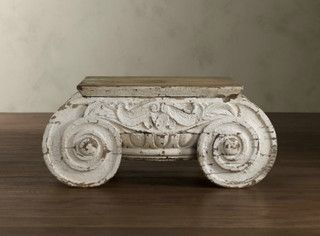 Distressed Ionic Capital Coffee Table - mediterranean - coffee tables - by Restoration Hardware