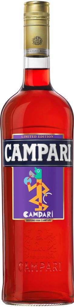 Campari's 2014 Art Labels collection features artworks by futurist Fortunato Depero / #packaging design