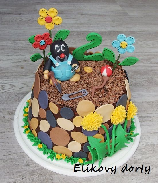 Little mole cake Dort krteček
