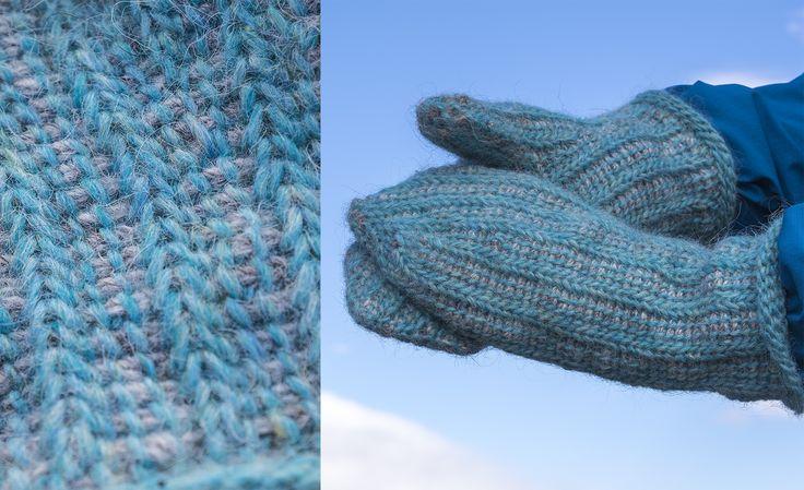 Hakka votter // tunisian crochet mittens // made by Léttlopi by Lopiyarn - Istex, icelandic wool