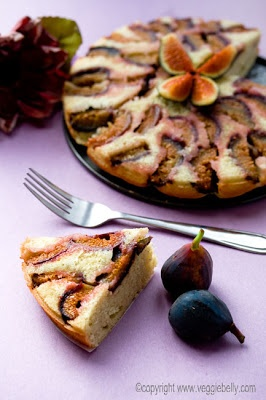 Fresh Fig and Spiced Rum Upside Down Cake