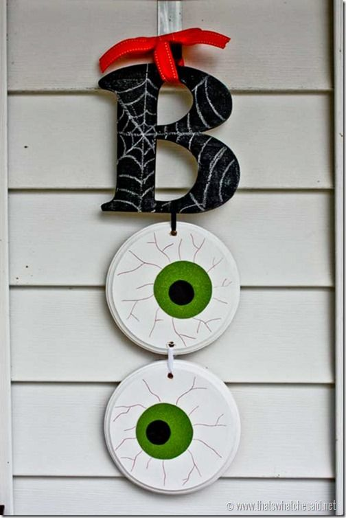 boo halloween door hanging - Homemade Halloween Door Decorations