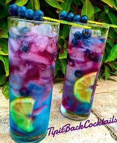 Northern Lights 1 oz Smirnoff Sours Berry Lemon 1 oz Deep Eddy Lemon Vodka Top with Red Bull Blueberry Garnish: Lemon wedge and speared blueberries