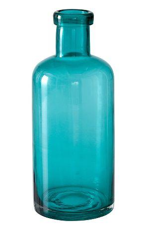 Dekorativ flaska som blir en snygg inredningsdetalj. Av handblåst glas. Passar också bra som vas. Höjd 30 cm. Ø 12 cm. <br><br><br><br> <br><br>