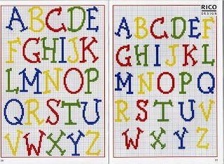 Two sizes alphabet