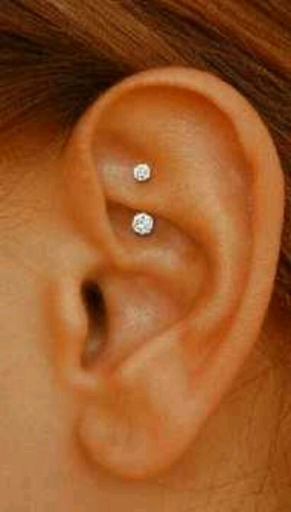 Cute and cool peircings..rook? I think that's what this is!