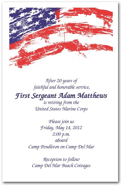 Grunge Patriotic USA Flag Invitations | air force ...