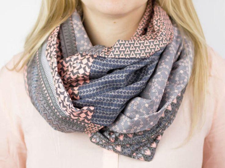 Tutoriel DIY: Coudre un foulard tube avec 6 fat quarters via DaWanda.com
