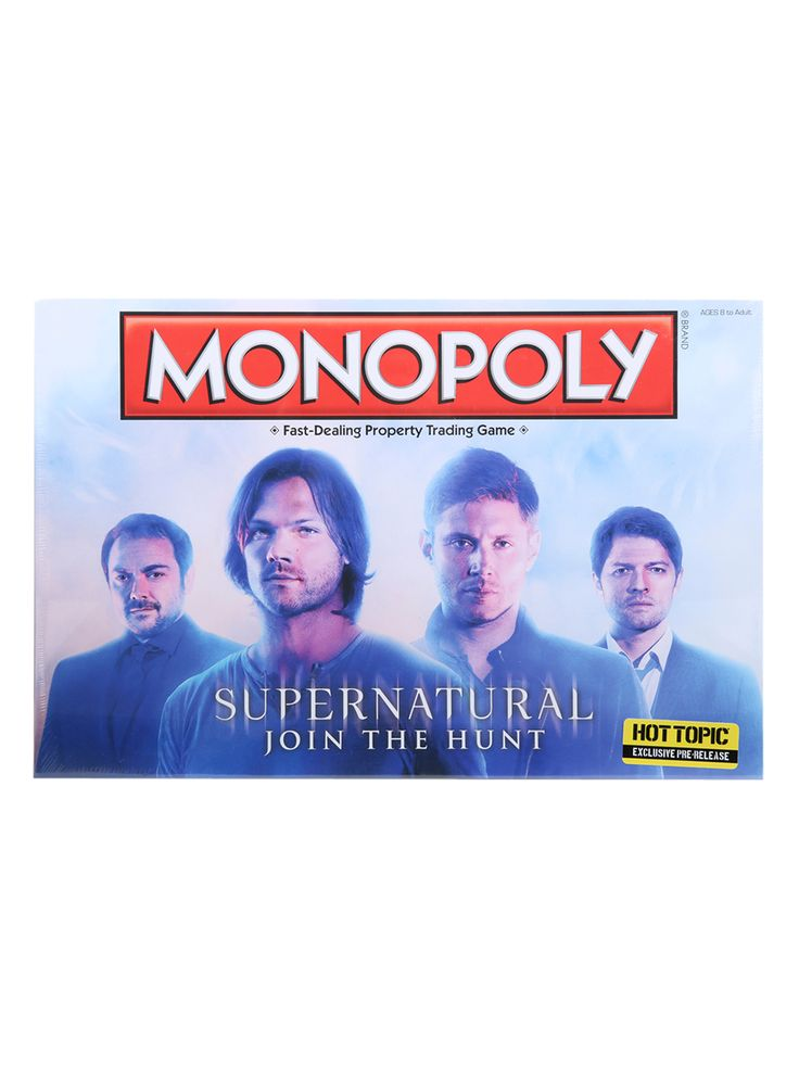 Monopoly Supernatural Board Game Hot Topic Exclusive Pre-Release | Hot Topic