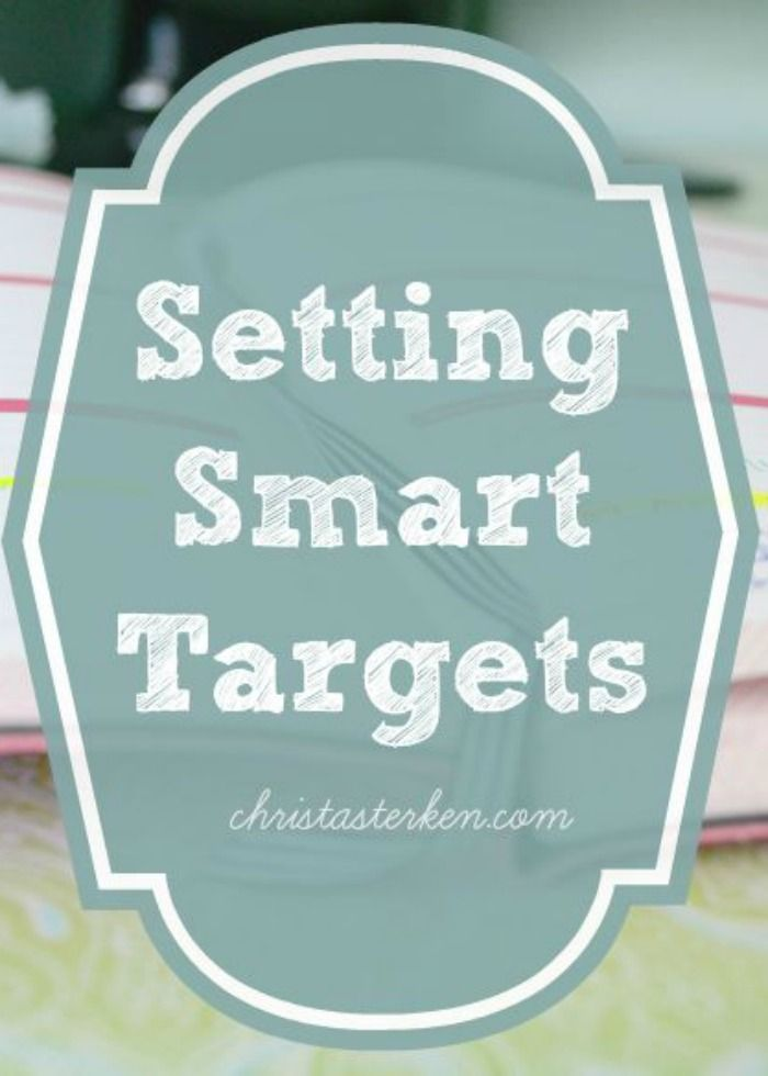 Want to finally start getting things done instead of feeling like another day (year) has passed...without the things you are passionate about? Learn about the value in setting smart targets www.christasterken.com