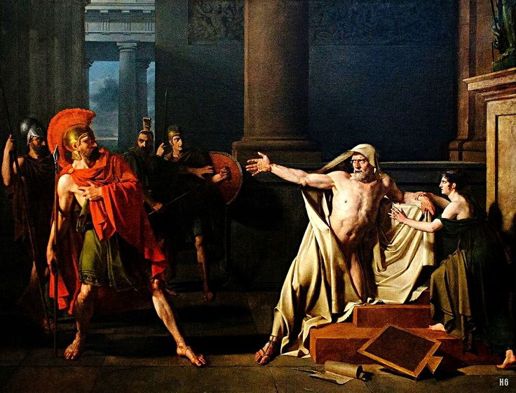 The Death of Demosthenes. 1806. Michel Martin Drolling. French 1786-1851. oil /canvas. http://hadrian6.tumblr.com