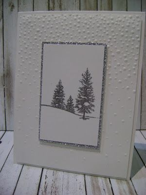 You know me, I love the fancy fussy cards that are truly one of a kind cards that you wouldn't want to make mass numbers of them due to the time involvement.      This card give the same wow factor without a lot of time and fuss. The Softly Falling embossing folder… Continue reading