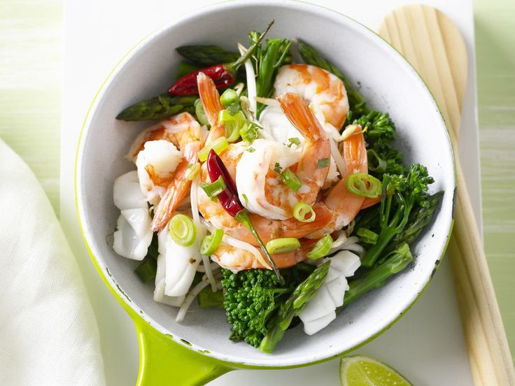 Quick, tasty and packed full of fresh seafood, this beautiful stir-fry is perfect for a mid-week dinner with the family.