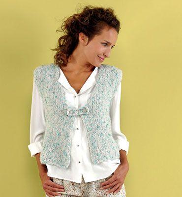 photo tricot modele tricot gilet sans manche femme gratuit 13