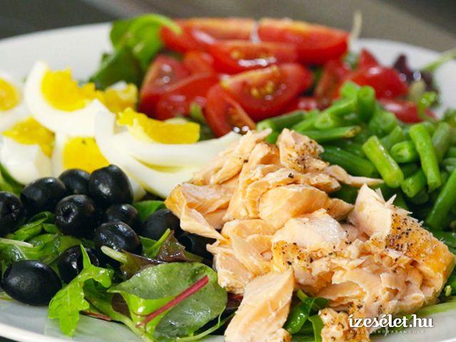 Lazacos nizzai saláta