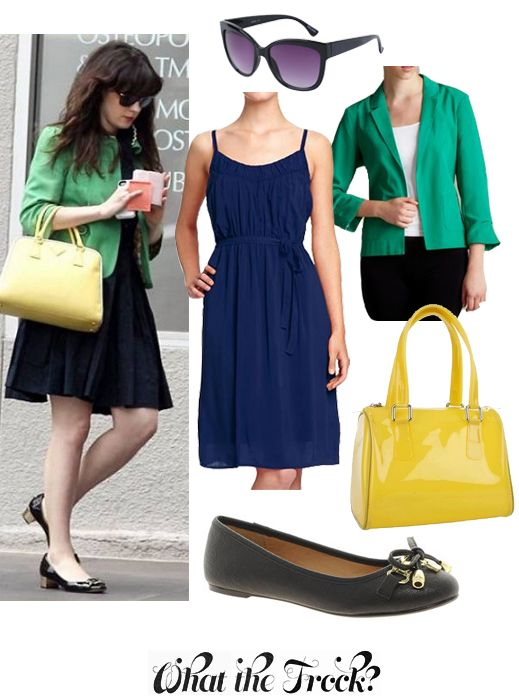 What the Frock? - Affordable Fashion Tips and Trends: Celebrity Look for Less: Zooey Deschanel Style