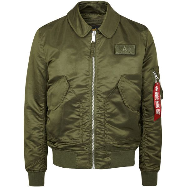 Alpha Industries CWU Olive Shell Flight Jacket - Size M ($200) ❤ liked on Polyvore featuring men's fashion, men's clothing, men's outerwear, men's jackets, mens zipper jacket, mens army green jacket, mens green military jacket, mens olive green jacket and mens zip jacket