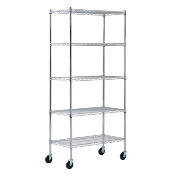Sandusky Lee 36 x 18 x 72 in. Chrome Wire Commercial Shelving Unit - MWS361872